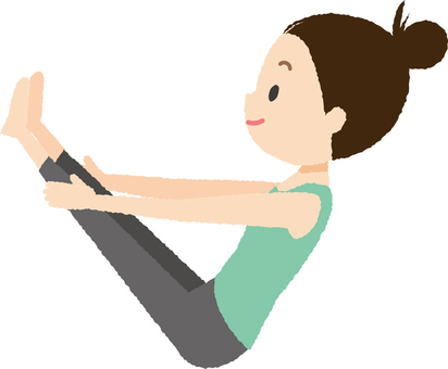 Yoga V pose