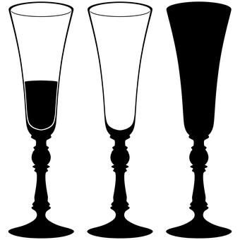 Silhouette glass set