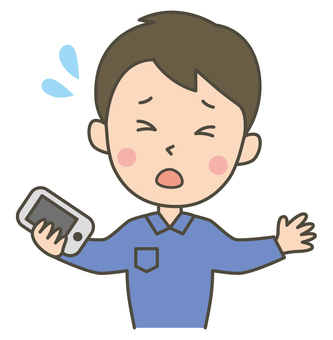 Phone trouble (male)