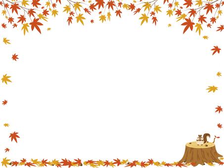 Autumn leaves frame 01