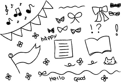 Various handwritten materials