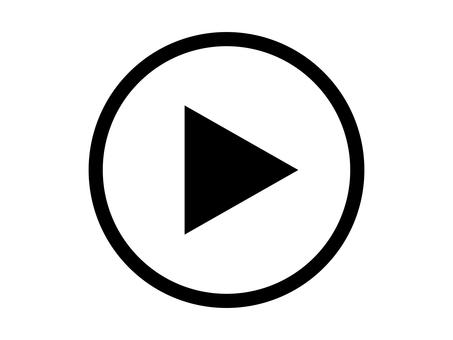 Playback Video playback button Black