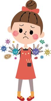 Children girls bacterial virus prevention measures whole body