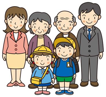 Three household family