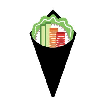Image of sushi (hand rolled sushi)