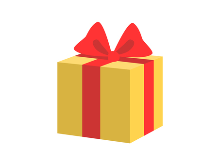Present (yellow box and red ribbon)
