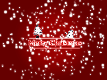Christmas tree and snowman background
