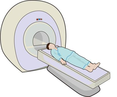 MRI examination male
