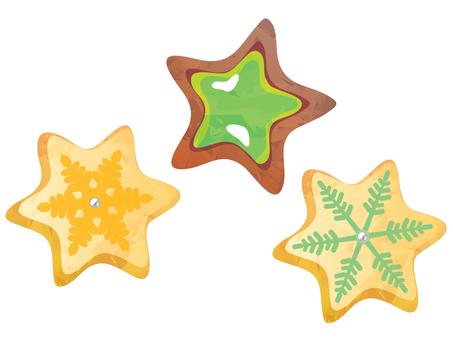 별 모양과 눈의 모양의 쿠키 02