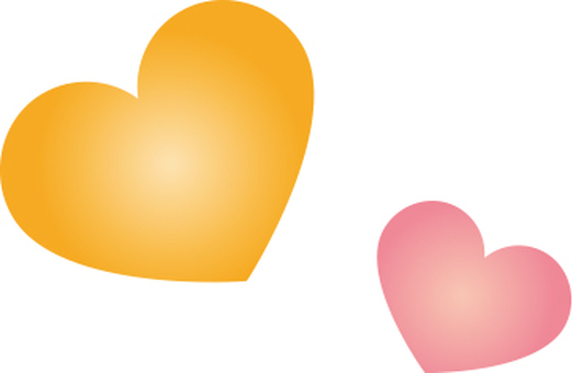 Heart pink and orange