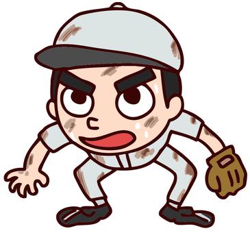 Illustration of a baseball boy