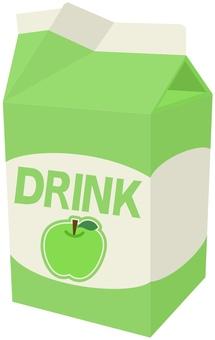 Green apple juice pack opened