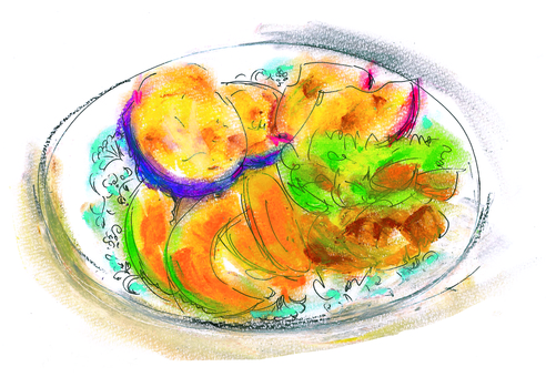 Tempura of vegetables