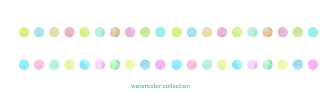 Watercolor polka dot line