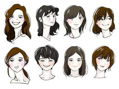 Eight women icon