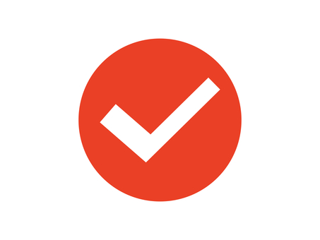 Check check box round red