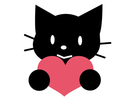 Cat with heart 4