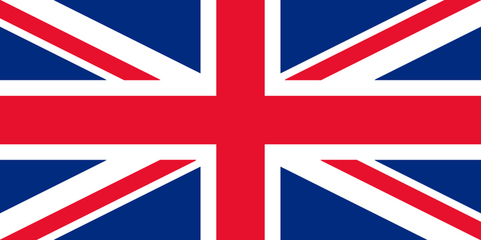 British flag (more accurate color and ratio)