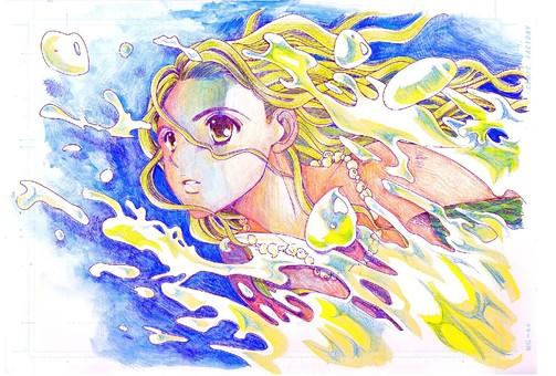 바다를가는 소녀