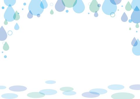 Rain drop frame