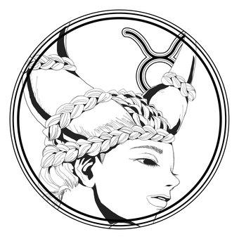 12星座シンボル【牡牛座】