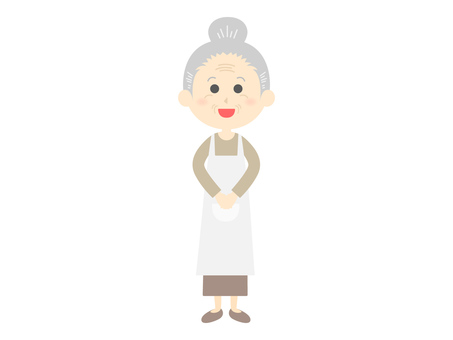 An illustration of a grandma