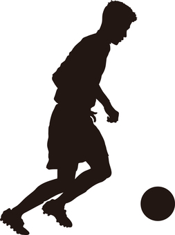 Football silhouette dribble