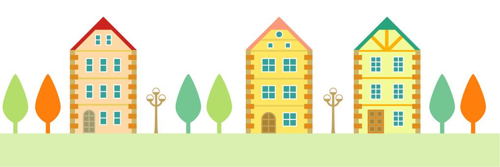 Brick-like house (cityscape)