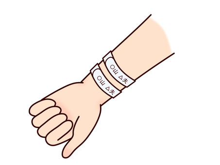 Two wristbands