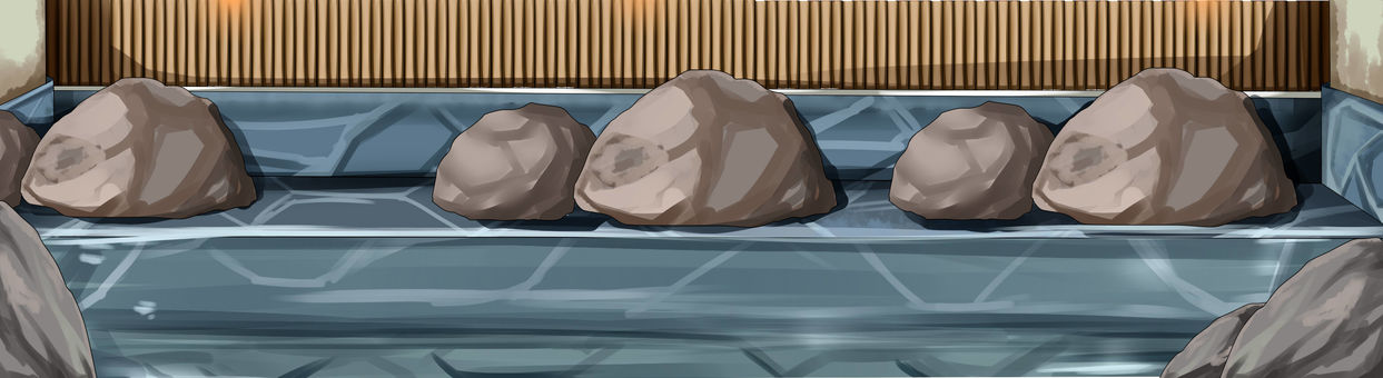 Background Add hot spring rock