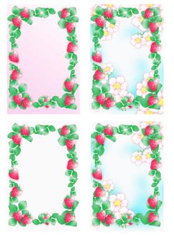 Four strawberry frames