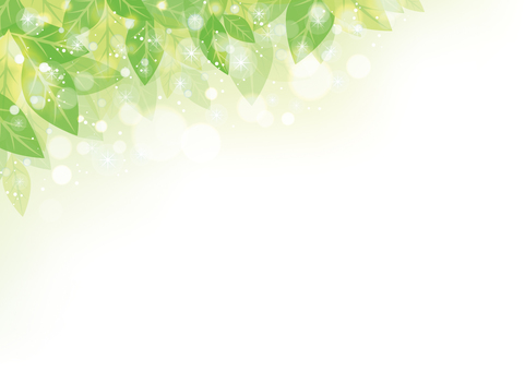 Green leaf frame 02