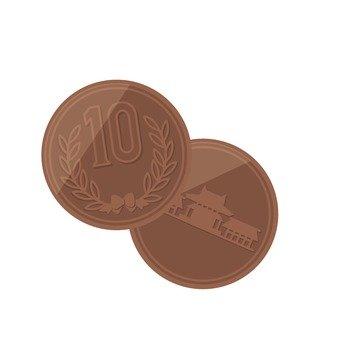 Two 10 yen coin
