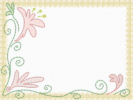 Embroidery card (yellow)