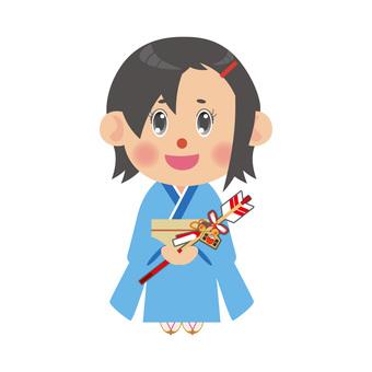 Kimono woman with demon arrow (shortcut)