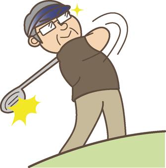 Nice shot at golf