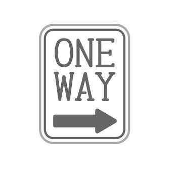 Sign (one way)