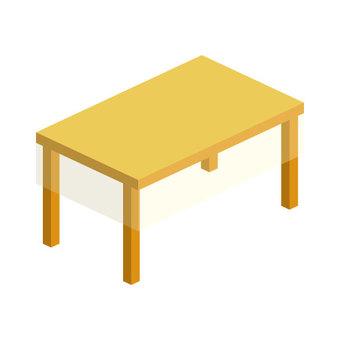 테이블 (투명 크로스 포함) 선 없음
