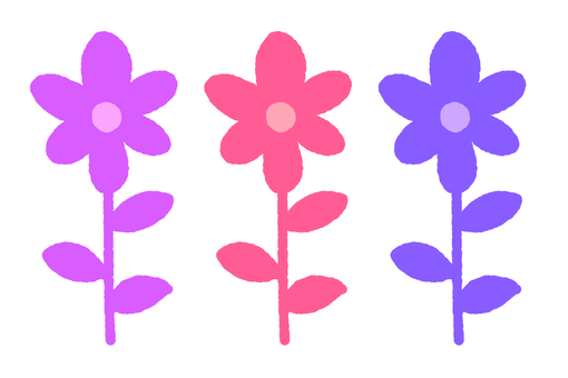Blooming flowers (three _ color 1)