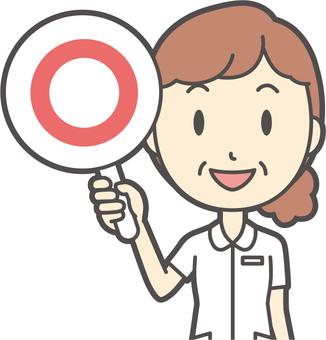 중년 여성 간호사 백의 -124- 가슴