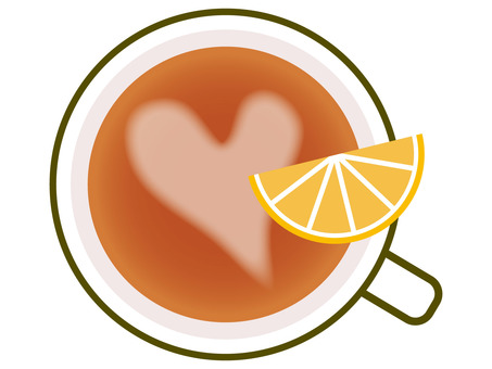 Tea / Heart pattern