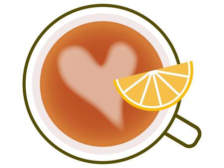 茶/心形圖案