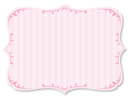 Classic girly frame pink