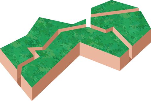 3D map Shikoku