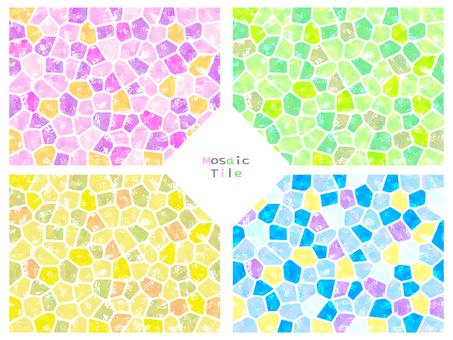 Mosaic tile × 4