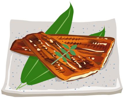 烤鰻魚麵條