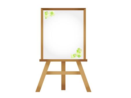 Easel Clover 2 (Whiteboard)