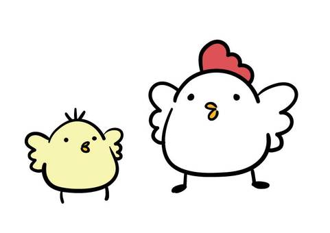 Chick and chicken