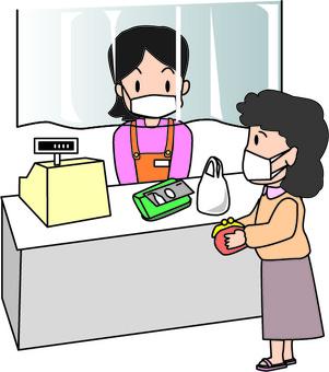 Cash register convenience store