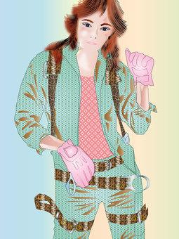 Women in work clothes 03